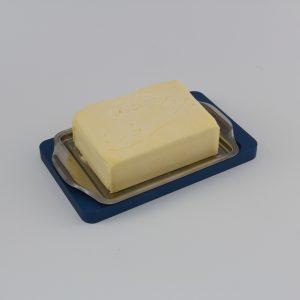 Allgäuer Geschenke - Butterkühler aus Aluminium eloxiert blau | einfach im Gefrierfach kühlen