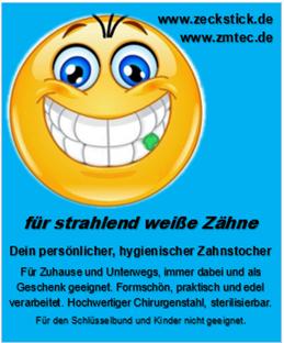 ZAHNstick: DER ZAHNREINIGER Zahnstocher aus dem Allgäu